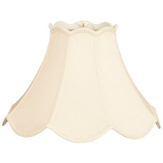 Royal Designs Scalloped Bell Designer Lamp Shade, Eggshell, 5 x 12 x 9
