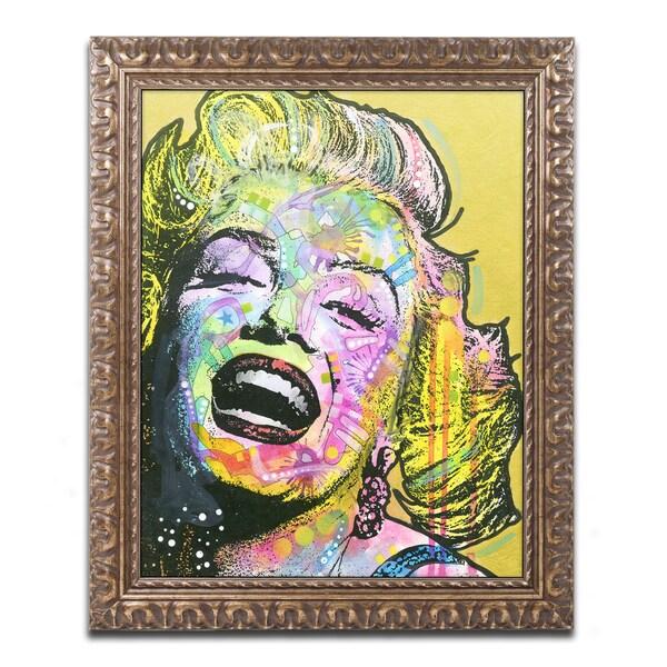 Dean Russo 'Golden Marilyn' Ornate Framed Art