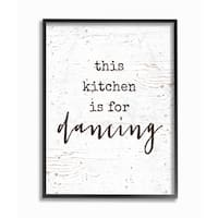 This Kitchen Is For Dancing Framed Giclee Texturized Art