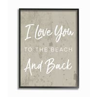 I Love You To The Beach and Back Framed Giclee Texturized Art