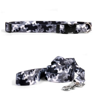 Yellow Dog Design Camo Black & White Standard Collar & Lead Set