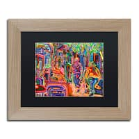 Josh Byer 'Folk' Matted Framed Art