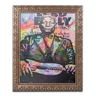 Dean Russo 'Lead Belly' Ornate Framed Art