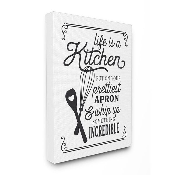 Shop Life Is Like A Kitchen Vintage Typography Stretched