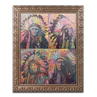 Dean Russo 'Chiefs Quadrant' Ornate Framed Art