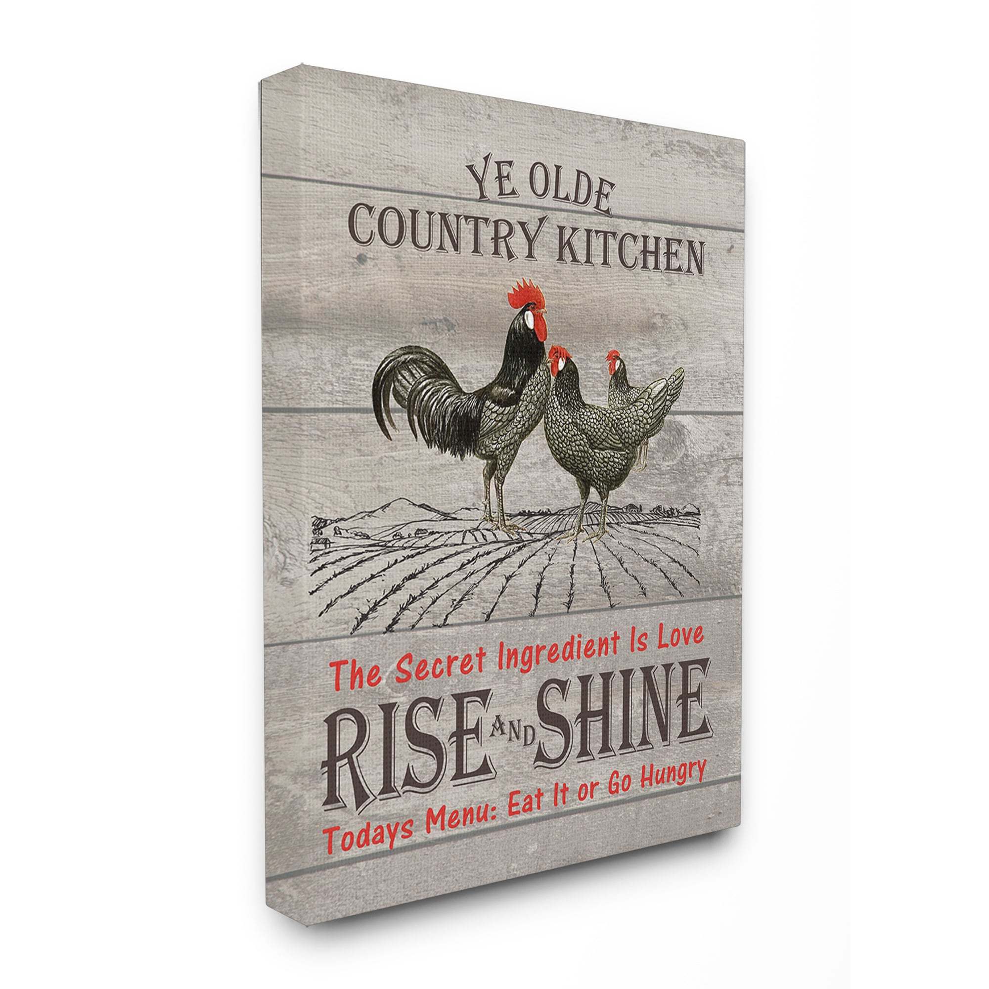 Shop Old Country Kitchen Rise Shine Stretched Canvas Wall Art Overstock 15262577