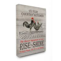 Old Country Kitchen Rise & Shine Stretched Canvas Wall Art