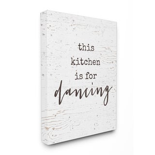 This Kitchen Is For Dancing Stretched Canvas Wall Art