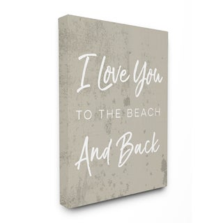 I Love You To The Beach and Back Stretched Canvas Wall Art
