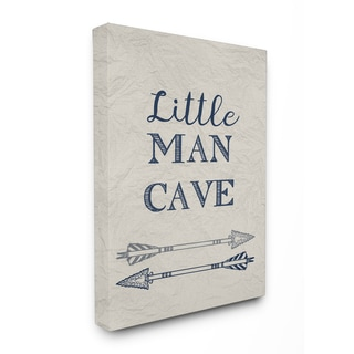 Little Man Cave Arrows Illustration Stretched Canvas Wall Art