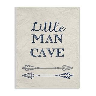 Little Man Cave Arrows Illustration Wall Plaque Art - 10 x 15