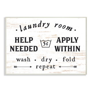 Laundry Room Help Needed Apply Within Wall Plaque Art