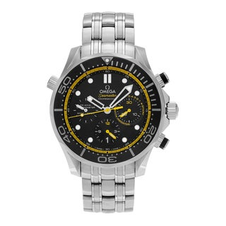 Omega Men's 'Seamaster' 212.30.44.50.01.002 Stainless Steel Chronograph Dial Link Bracelet Watch