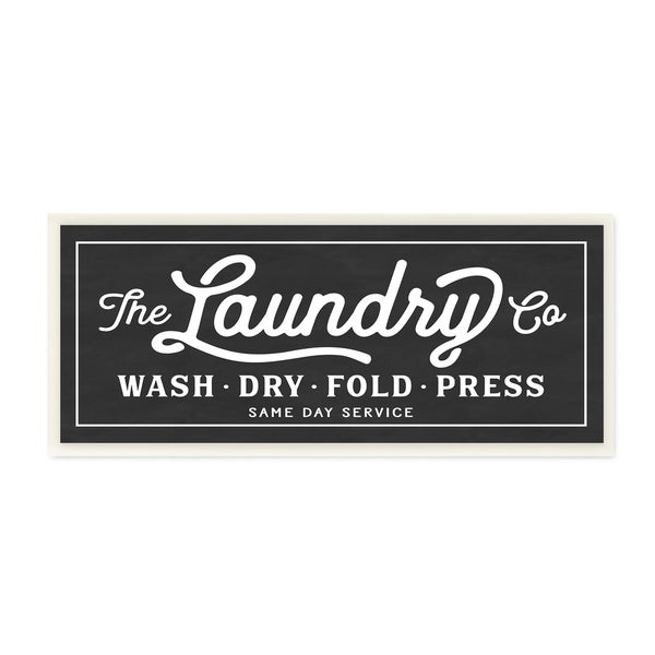 Laundry Wall Plaque Vintage Laundry Sign Cursive Typography Wall Plaque Art  Free