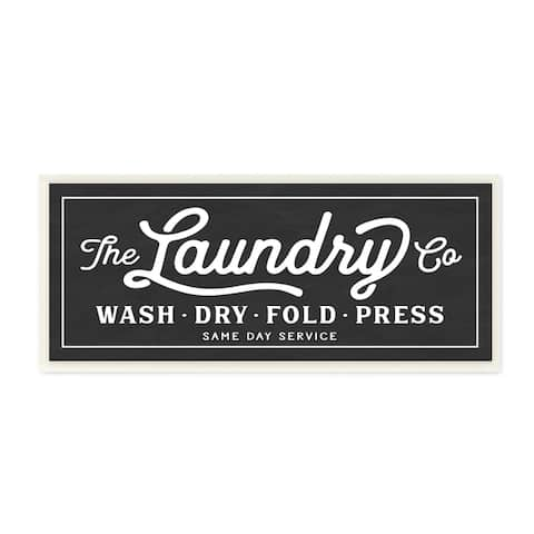 Vintage Laundry Sign Cursive Typography Wall Plaque Art
