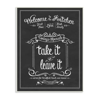 Welcome to the Kitchen Chalkboard Vintage Sign Wall Plaque Art