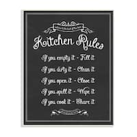 Kitchen Rules Chalkboard Vintage Sign Wall Plaque Art