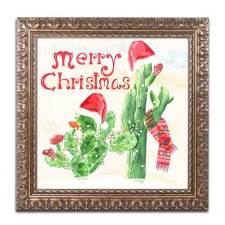 Lisa Powell Braun 'Xmas Cactus' Ornate Framed Art