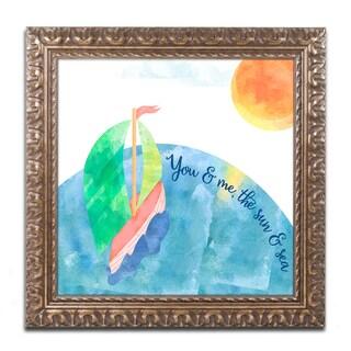 Lisa Powell Braun 'You And Me' Ornate Framed Art