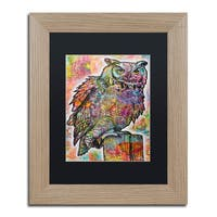 Dean Russo 'Owl Perch' Matted Framed Art - Multi