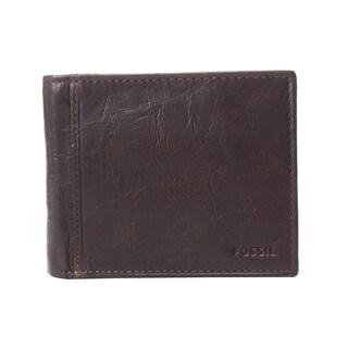 Fossil Ingram RFID Large Brown Coin Pocket Bifold Mens Wallet