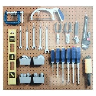 Pegboard Hook Assortment Kit Storage Shop Garage Organizing Tools Hanger