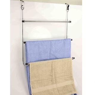 3 Tier Over The Door Chrome Towel Rack