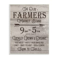 The Old Farmers Market Stand Vintage Sign Wall Plaque Art