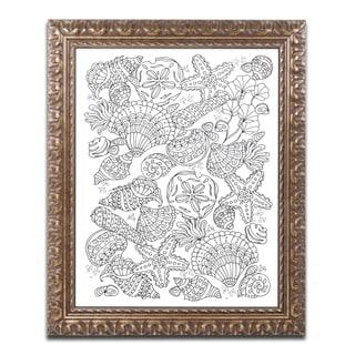 Lisa Powell Braun 'Nautical Shells' Ornate Framed Art