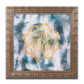 Lisa Powell Braun 'Mandala' Ornate Framed Art