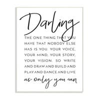 Darling Live As Only You Can Typography Wall Plaque Art