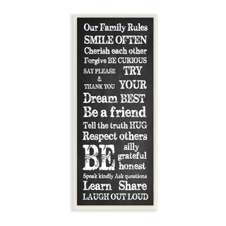 Our Family Rules Learn Share Laugh Out Loud Wall Plaque Art