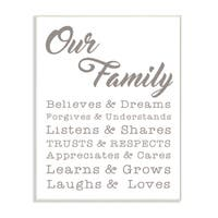 Our Family Laughs and Loves Wall Plaque Art