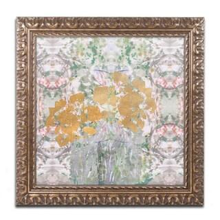 Lisa Powell Braun 'Floral Abstract' Ornate Framed Art