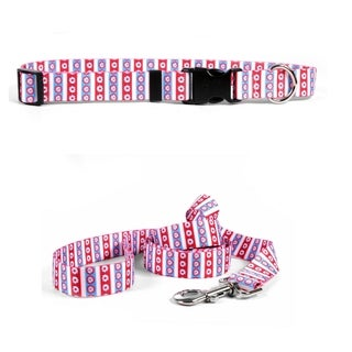 Yellow Dog Design American Daisy Standard Collar & Lead Set