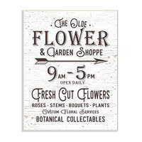 The Old Flower and Garden Shop Sign Wall Plaque Art