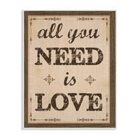 All You Need Is Love Wall Plaque Art