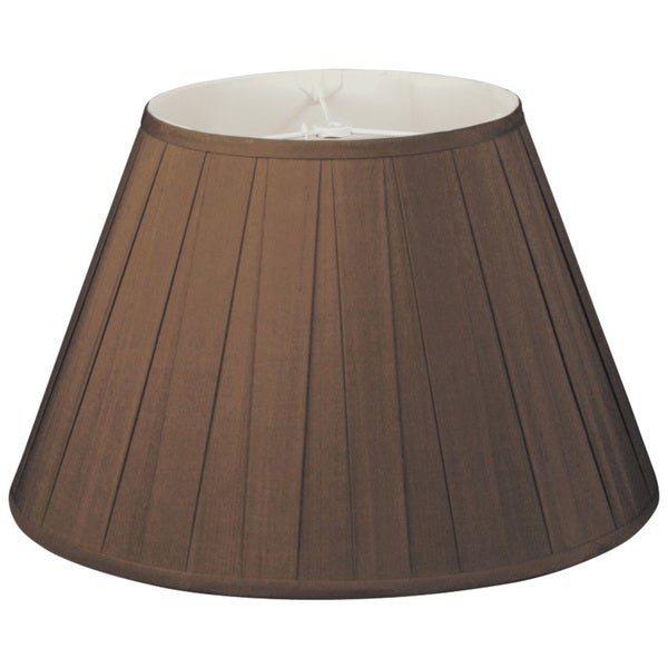 Royal Designs Wide Pleat Empire Designer Lamp Shade, Chocolate, 6.5 x 12 x 8
