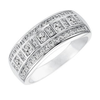Cambridge 10k White Gold 1/3ct TDW Diamond Anniversary Band