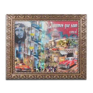 Alberto Lopez 'Che' Ornate Framed Art