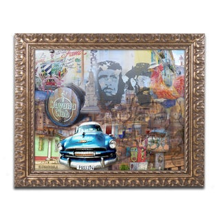 Alberto Lopez 'Havana Club II' Ornate Framed Art