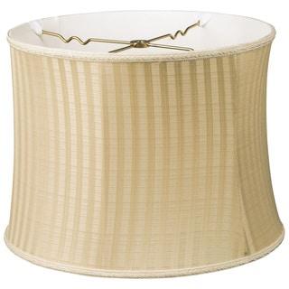 Royal Designs Bell Drum Designer Lamp Shade, Gold/Black Oriental, 12 x 13 x 10
