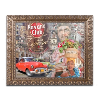 Alberto Lopez 'Havana Club I' Ornate Framed Art