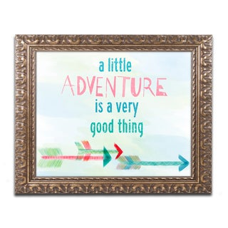 Lisa Powell Braun 'Adventure' Ornate Framed Art