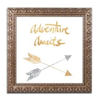 Lisa Powell Braun 'Adventure Arrows' Ornate Framed Art