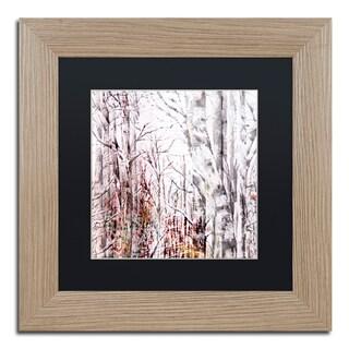 Lisa Powell Braun 'Winter Trees' Matted Framed Art