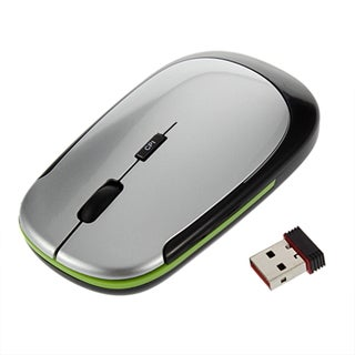2.4GHz Ultra-Slim Mini USB Wireless Optical Mouse (Silver)