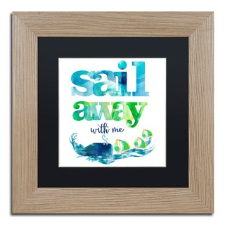 Lisa Powell Braun 'Sail Away With Me' Matted Framed Art