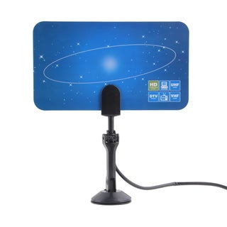 Digital Indoor HD TV HDTV DTV VHF UHF PC NB Flat High Gain Antenna 1080P