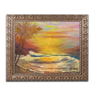 Manor Shadian 'A Tropical Lagoon' Ornate Framed Art